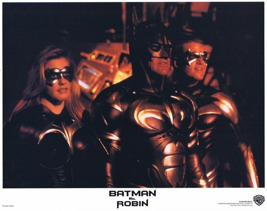 BATMAN AND ROBIN 1997 Lobby Card 6 Arnold Schwarzenegger George Clooney