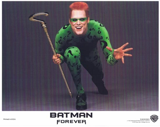 BATMAN FOREVER 1995 Jim Carrey Lobby Card 2