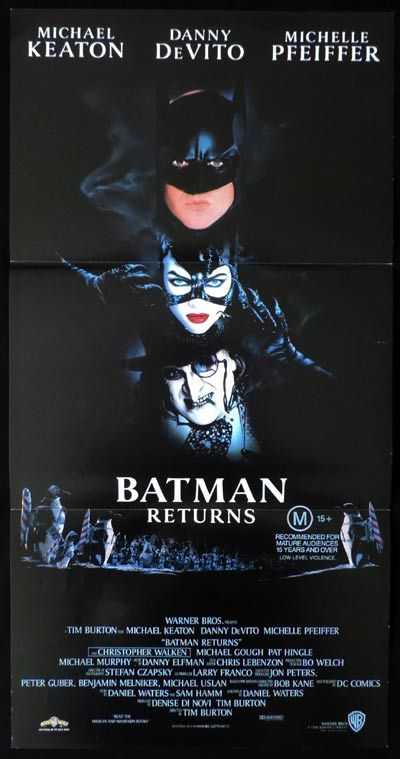 BATMAN RETURNS Daybill Movie poster Michael Keaton