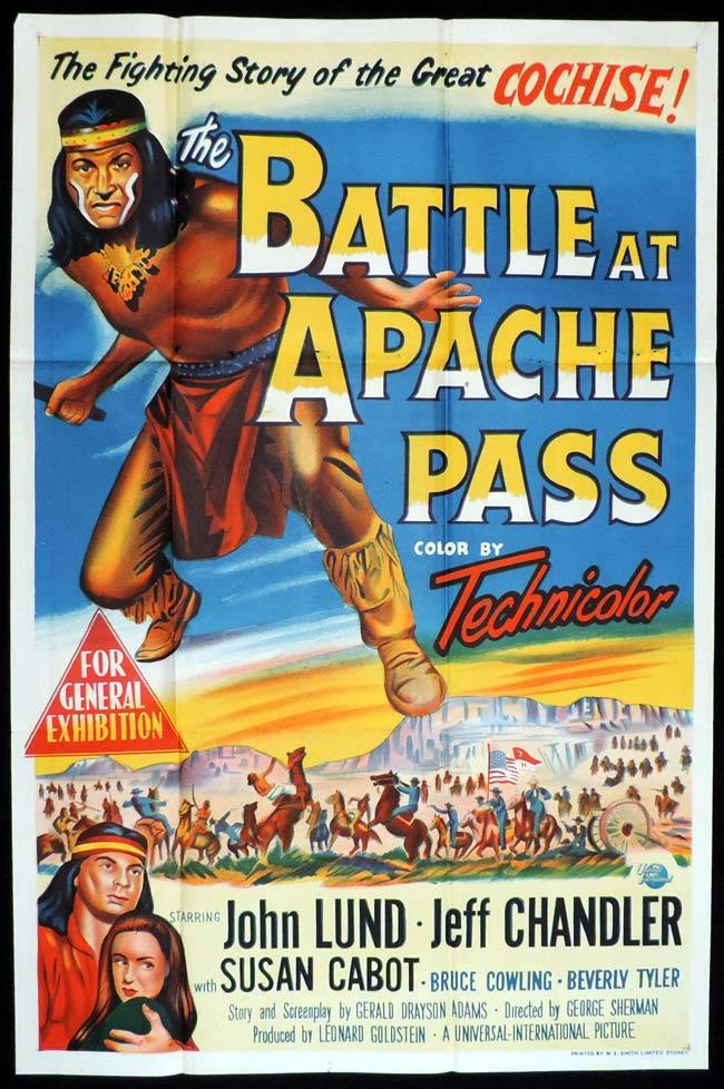BATTLE AT APACHE PASS Original One sheet Movie Poster John Lund Jeff Chandler