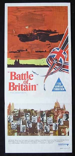 BATTLE OF BRITAIN Daybill Movie Poster Charles Michael Caine Harry Andrews