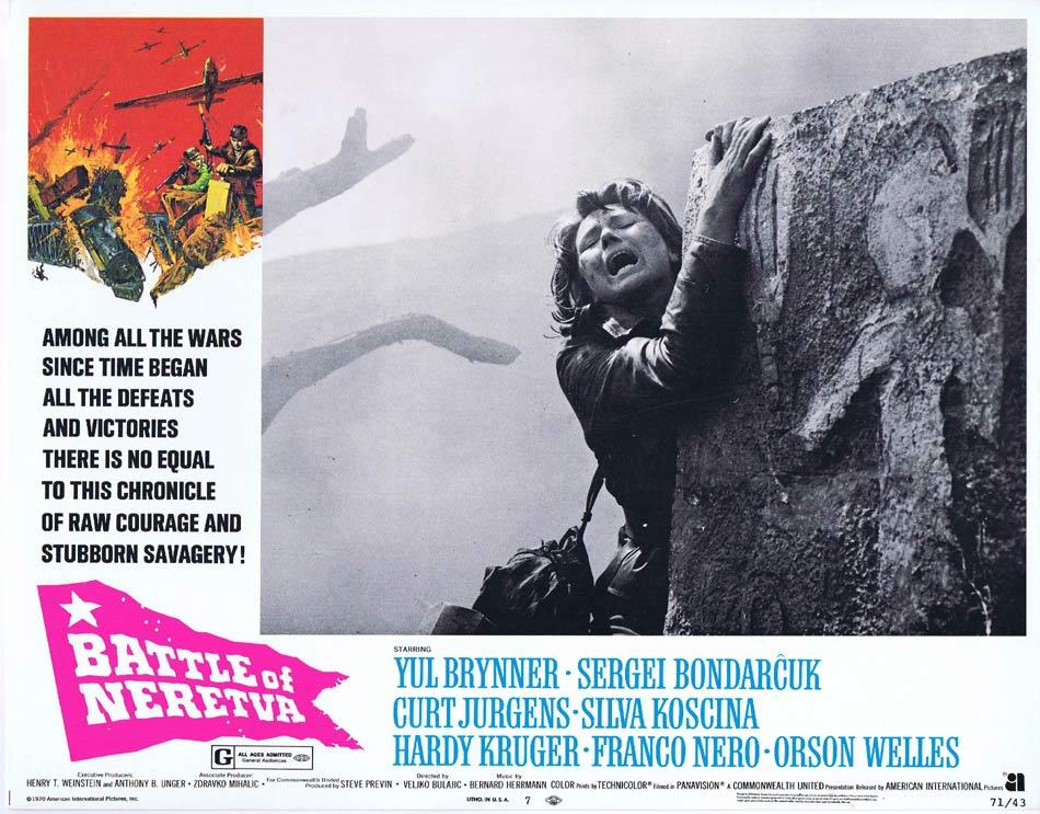 THE BATTLE OF NERETVA Lobby Card 7 Yul Brynner Sergei Bondarchuk Curt Jürgens Sylva Koscina
