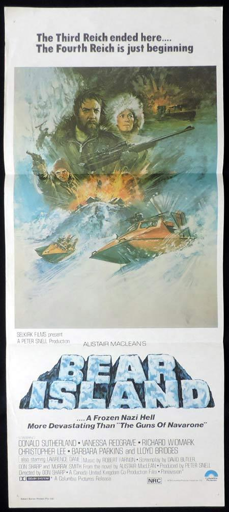 BEAR ISLAND Original Daybill Movie Poster Donald Sutherland Alistair McLean