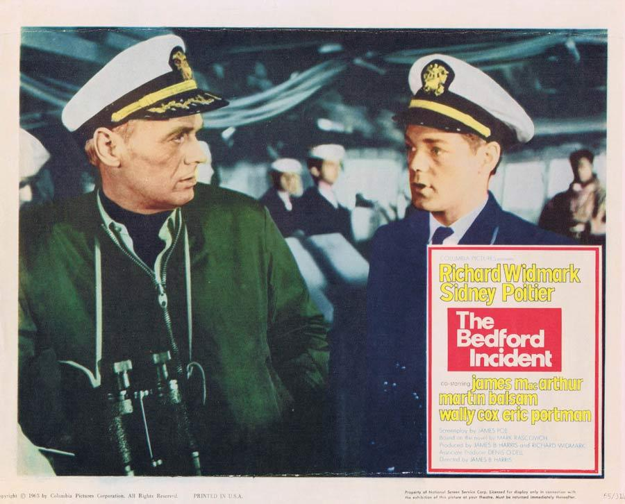 THE BEDFORD INCIDENT Lobby Card Richard Widmark James MacArthur