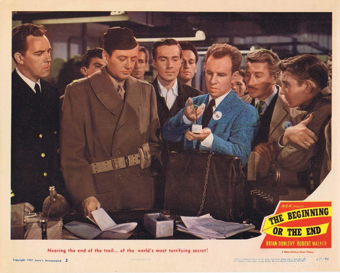 THE BEGINNING OF THE END Lobby Card 2 Brian Donlevy Hume Cronyn Robert Walker