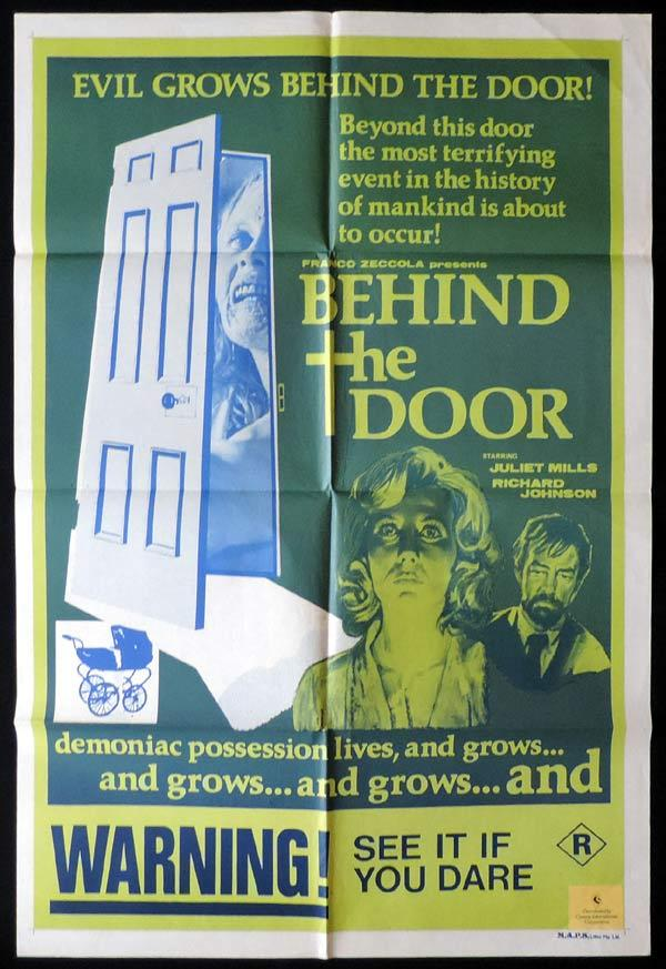 BEHIND THE DOOR One Sheet Movie Poster Juliet Mills Horror