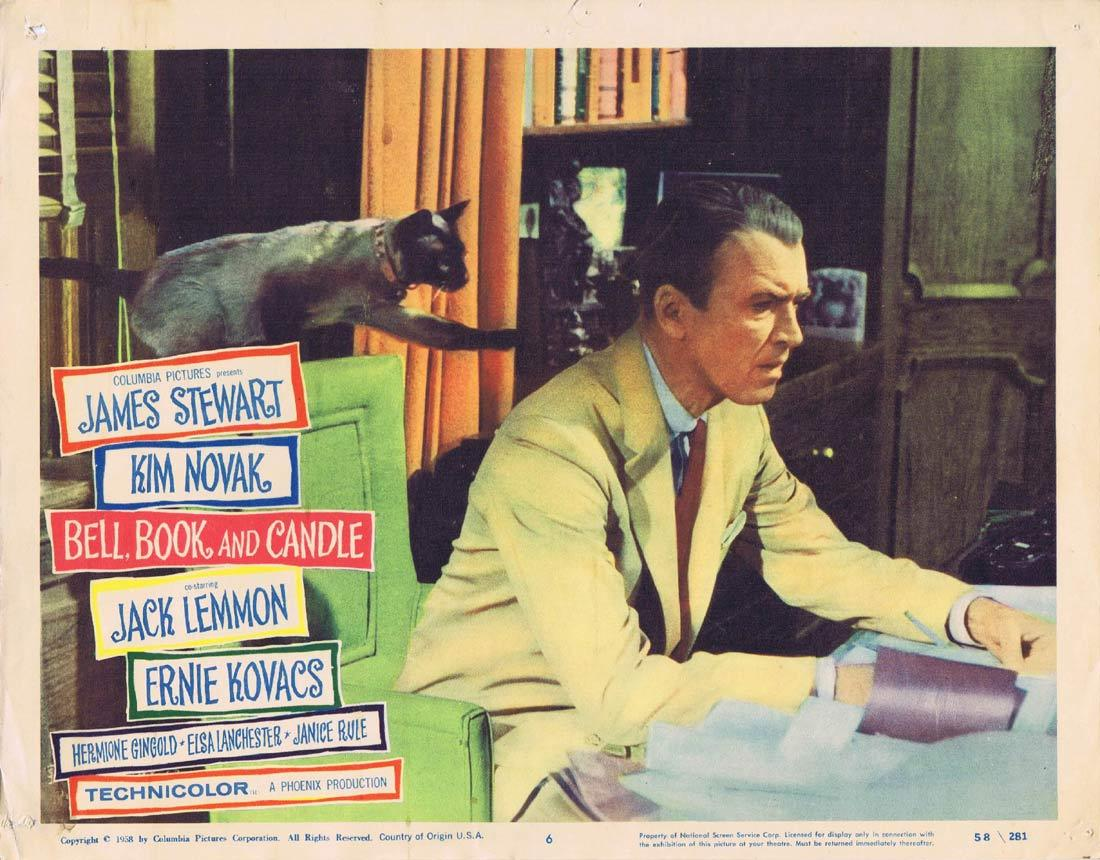BELL BOOK AND CANDLE Lobby Card 6 James Stewart Kim Novak Jack Lemmon