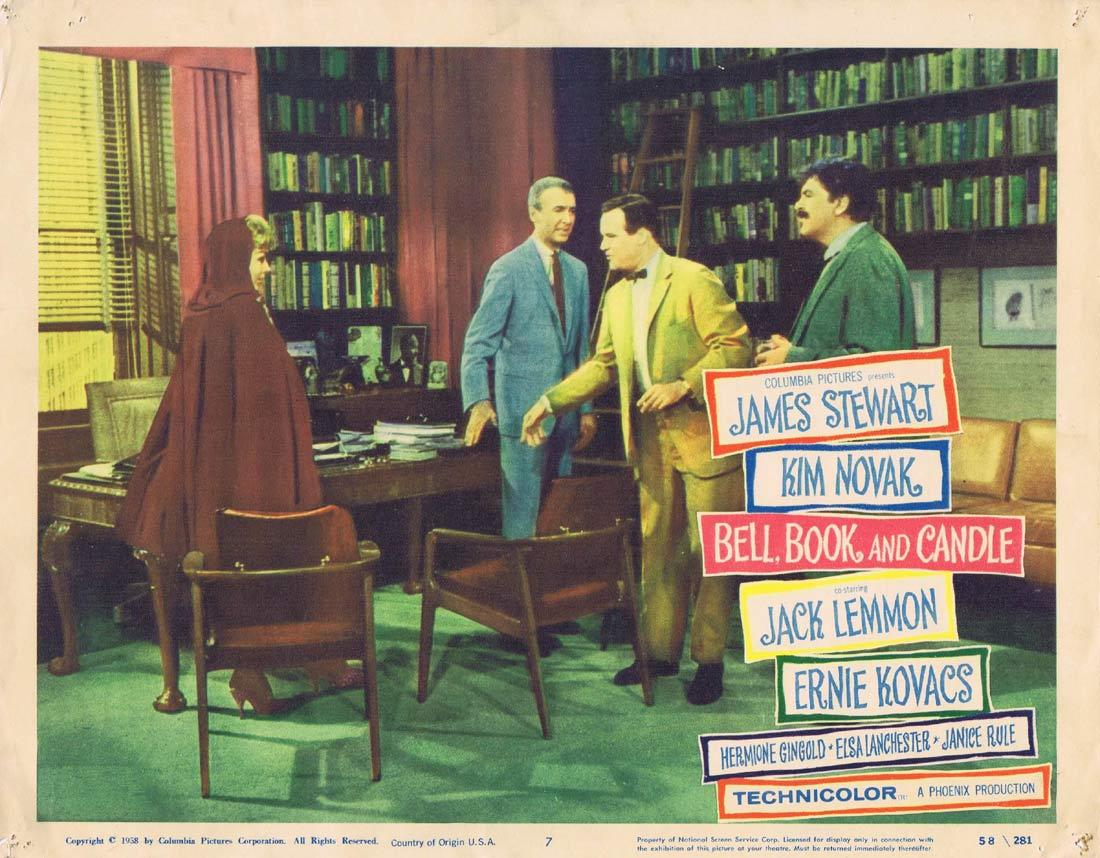 BELL BOOK AND CANDLE Lobby Card 7 James Stewart Kim Novak Jack Lemmon