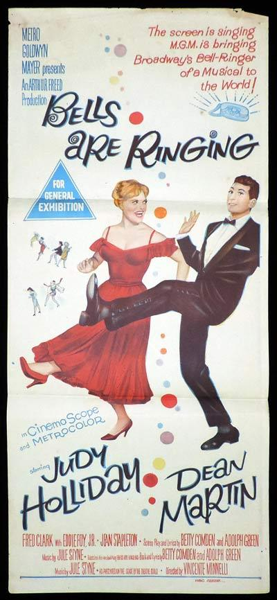 BELLS ARE RINGING Daybill Movie Poster Dean Martin Judy Holiday