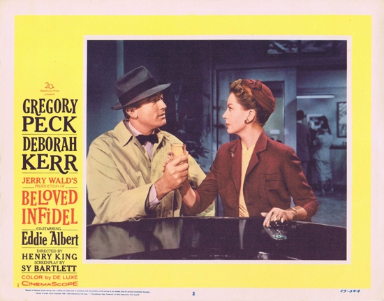 BELOVED INFIDEL Lobby Card 2 Deborah Kerr Gregory Peck