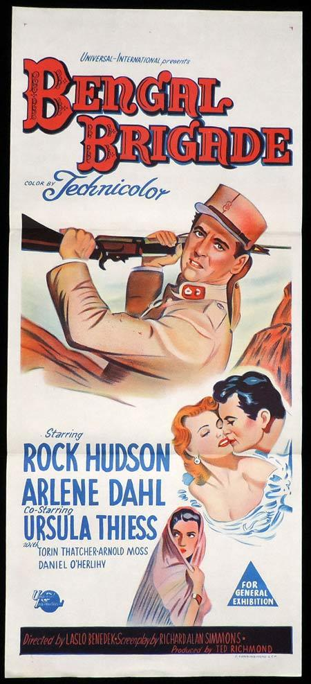 BENGAL BRIGADE Original Daybill Movie Poster Rock Hudson Arlene Dahl