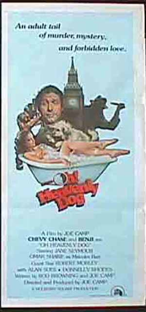 OH HEAVENLY DOG Australian Daybill Movie Poster Benji Chevy Chase Joe Camp
