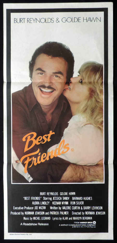 BEST FRIENDS Australian Daybill Movie poster Goldie Hawn Burt Reynolds