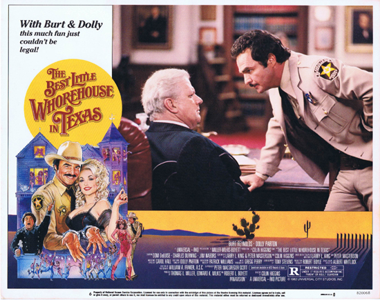 BEST LITTLE WHOREHOUSE IN TEXAS Lobby Card 6 Charles Durning Burt Reynolds