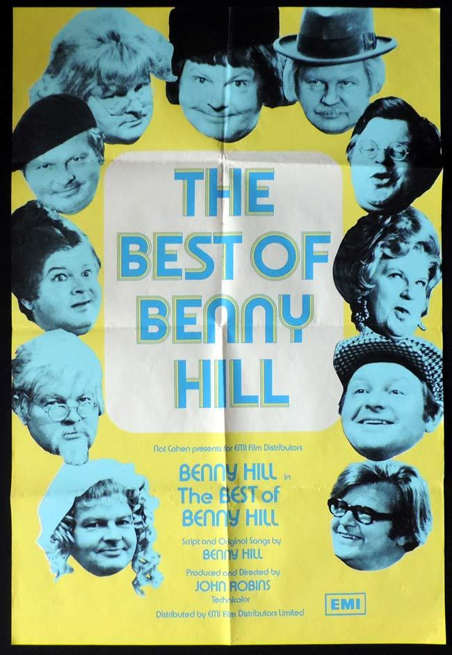 BEST OF BENNY HILL One Sheet Movie Poster Jules Dassin Peter Finch