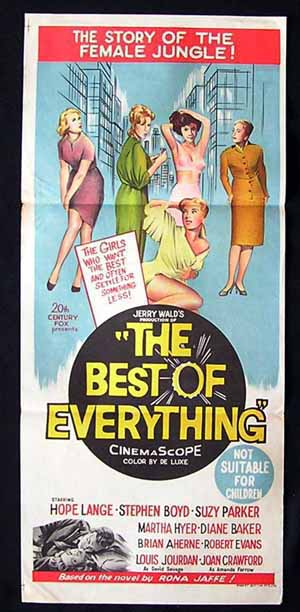 BEST OF EVERYTHING Hope Lange Joan Crawford RARE Daybill Movie poster