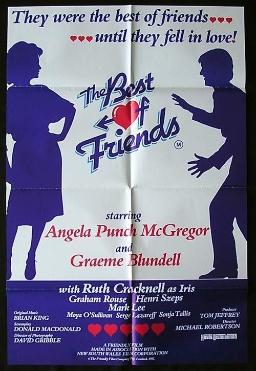 THE BEST OF FRIENDS 1982 Graeme Bludell RARE One sheet poster