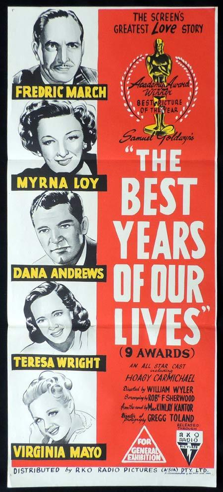THE BEST YEARS OF OUR LIVES Original Daybill Movie Poster Fredric March RKO