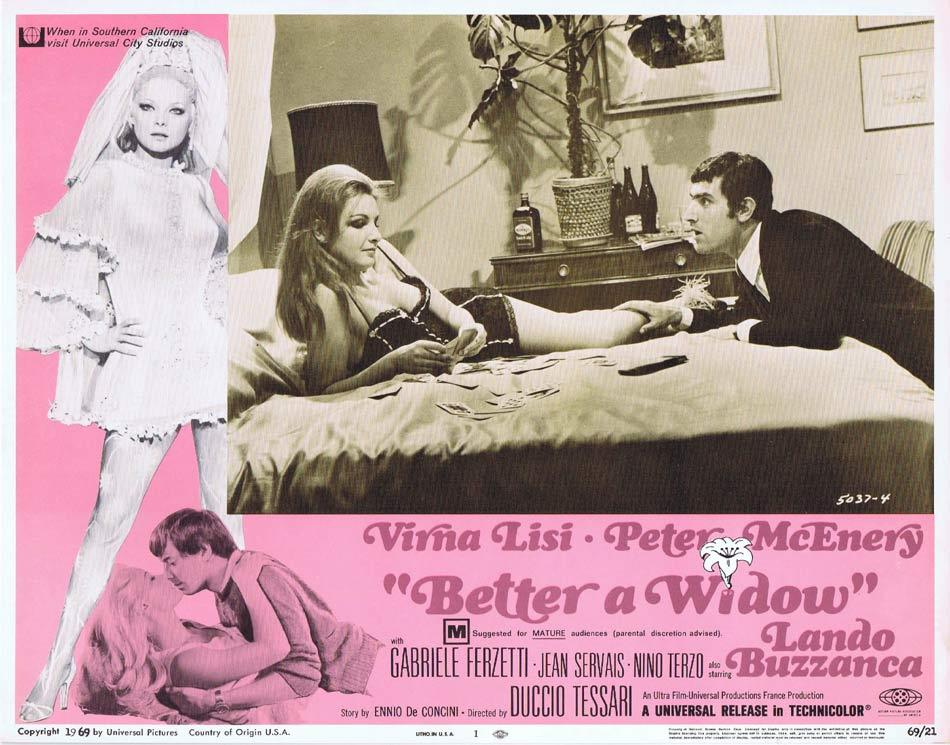 BETTER A WIDOW Lobby Card 1 Virna Lisi Peter McEnery Gabriele Ferzetti