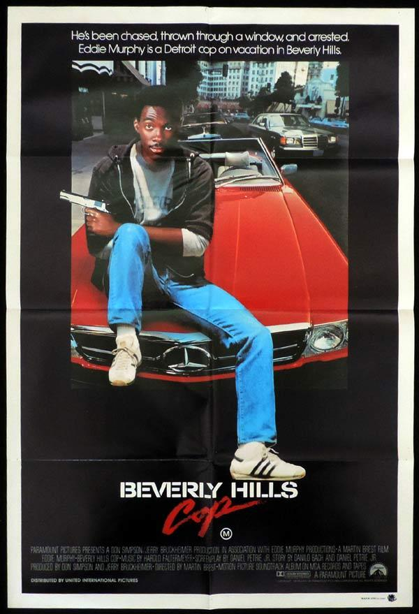 BEVERLY HILLS COP One Sheet Movie Poster Michael Pare Eddie Murphy