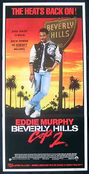 BEVERLY HILLS COP 2 Eddie Murphy RARE Daybill Movie poster