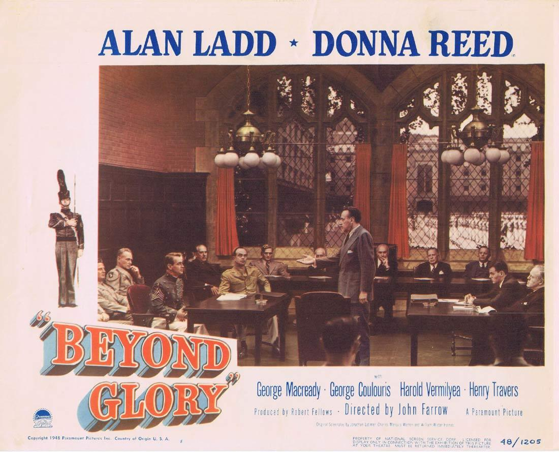 BEYOND GLORY Lobby Card Donna Reed Alan Ladd