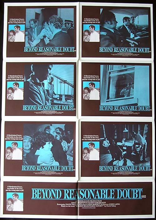BEYOND REASONABLE DOUBT  RARE Photo sheet poster