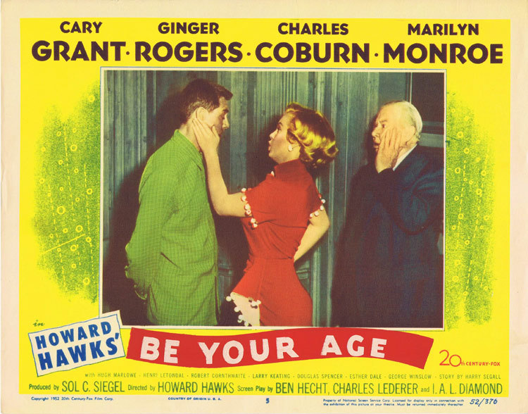 Monkey Business, Howard Hawks, Marilyn Monroe, Cary Grant, Ginger Rogers, Hugh Marlowe, Charles Coburn, Esther Dale, Douglas Spencer, George Winslow, Robert Cornthwaite, Henri Letondal, Larry Keating