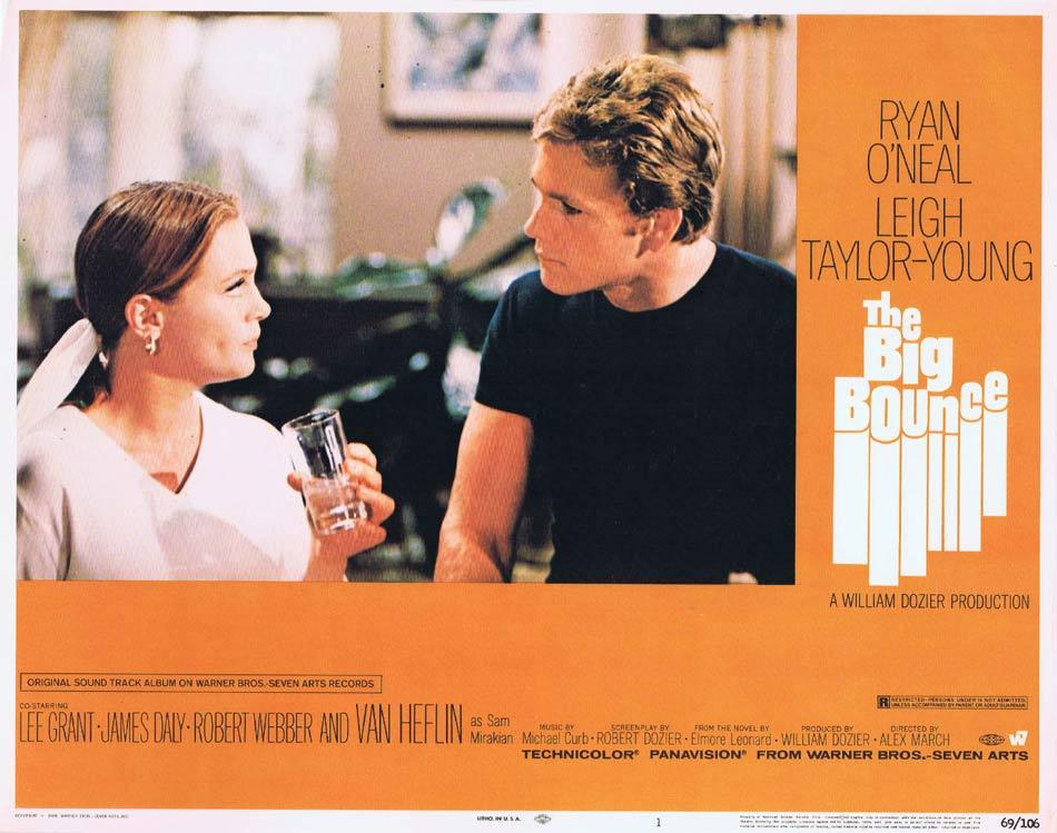 THE BIG BOUNCE Lobby Card 1 Ryan O'Neal Leigh Taylor-Young Van Heflin