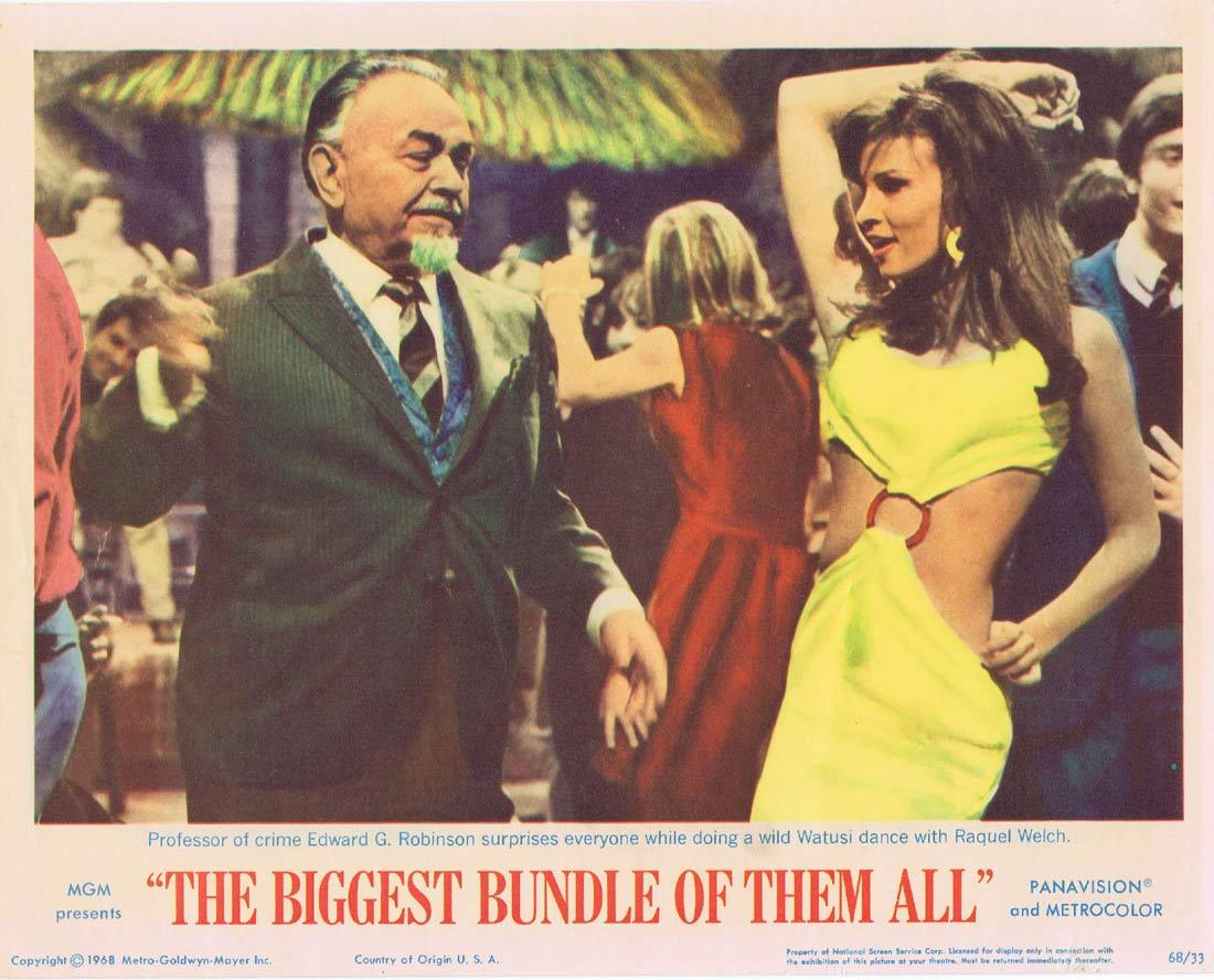 THE BIGGEST BUNDLE OF THEM ALL Lobby Card 2 Robert Wagner Raquel Welch Edward G.Robinson