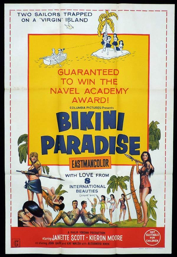BIKINI PARADISE One Sheet Movie Poster Janette Scott