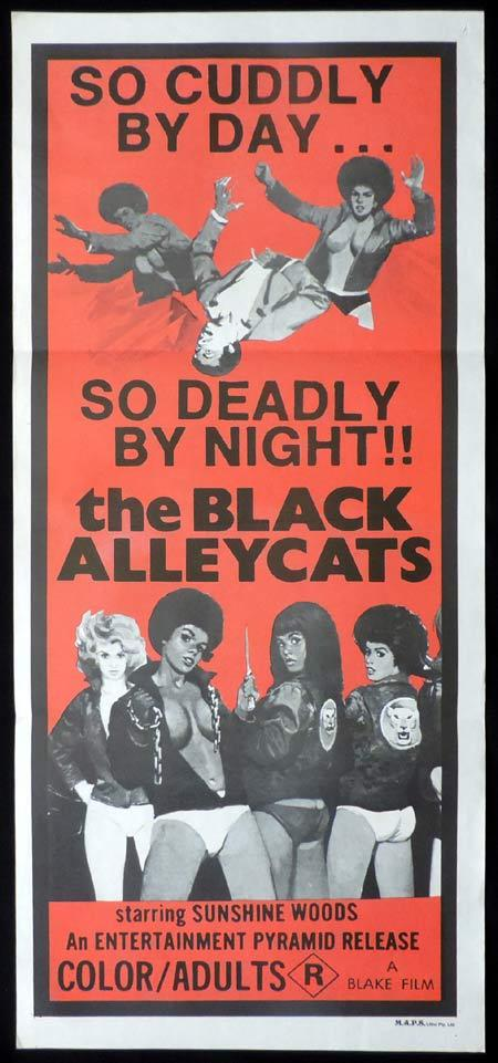 BLACK ALLEY CATS Original Daybill Movie Poster Blaxploitation Sunshine Woods