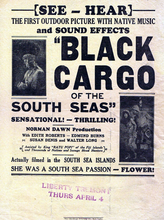 THE ADORABLE OUTCAST aka BLACK CARGO OF THE SOUTH SEAS 1928 Norman Dawn Movie Herald Australian Cinema Classic  - The Adorable Outcast	 1928 aka	Black Cargoes of the South Seas	