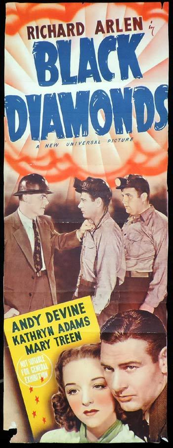 BLACK DIAMONDS Long Daybill Movie poster Andy Devine
