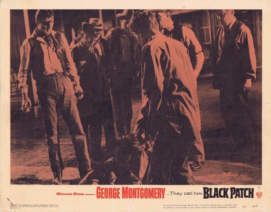 BLACK PATCH 1957 George Montgomery Lobby card 8