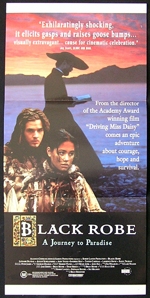 BLACK ROBE 1988 Lothaire Bluteau daybill Movie poster
