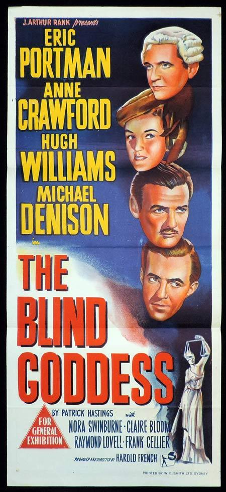 THE BLIND GODDESS Original Daybill Movie Poster Eric Portman Film Noir
