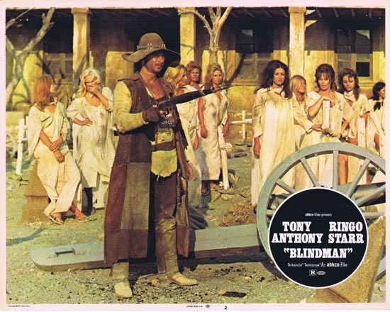 BLINDMAN 1972 Lobby Card 2 Tony Anthony Ringo Starr