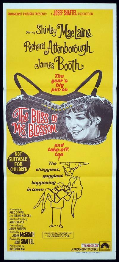 THE BLISS OF MRS BLOSSOM Daybill Movie Poster Shirley MacLaine