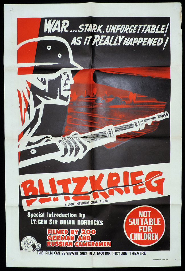 BLITZKRIEG One Sheet Movie Poster Sir Brian Horrocks War Documentary Film