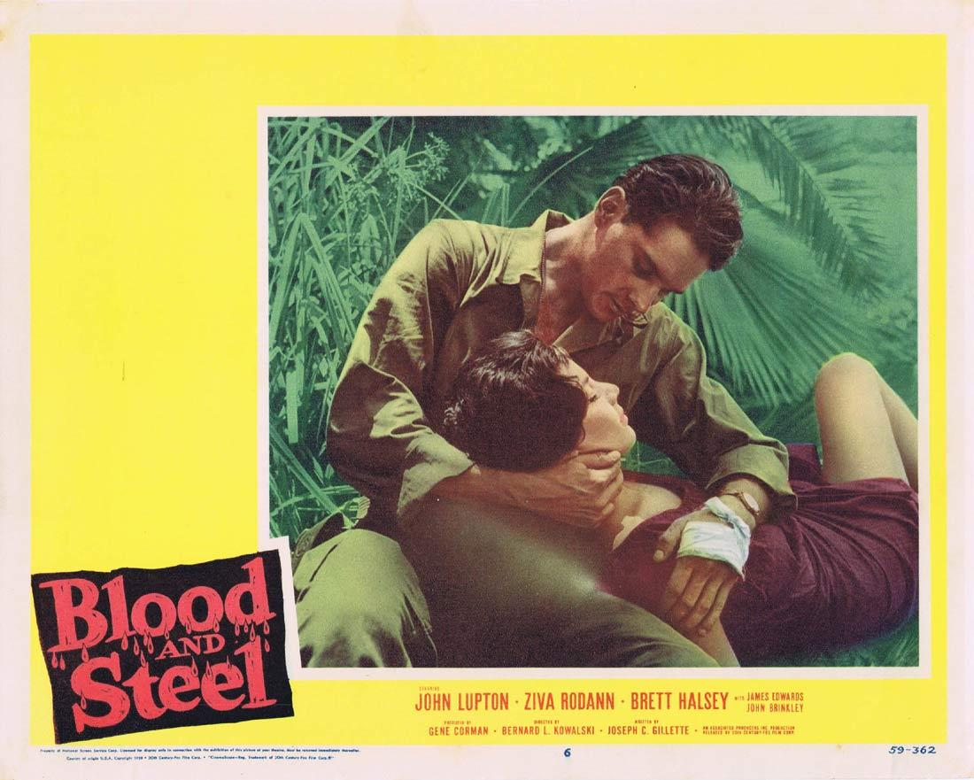 BLOOD AND STEEL Lobby Card 7 John Lupton James Edwards Brett Halsey 1959