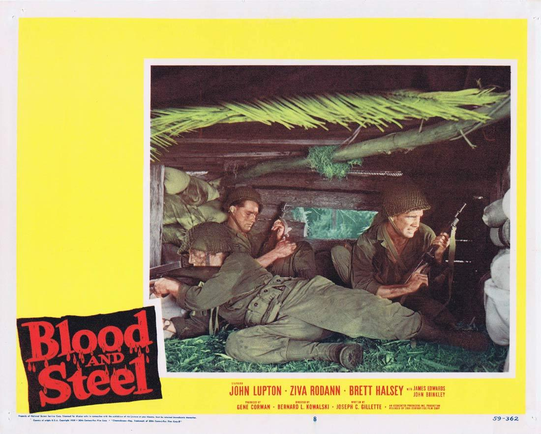 BLOOD AND STEEL Lobby Card 8 John Lupton James Edwards Brett Halsey 1959