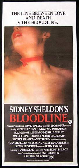SIDNEY SHELDON'S BLOODLINE 1979 Audrey Hepburn Daybill Movie poster