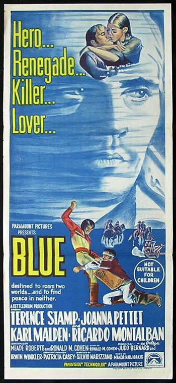 BLUE Australian daybill Movie Poster Terence Stamp