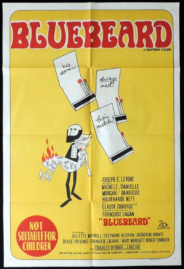 BLUEBEARD One Sheet Movie Poster Claude Chabrol