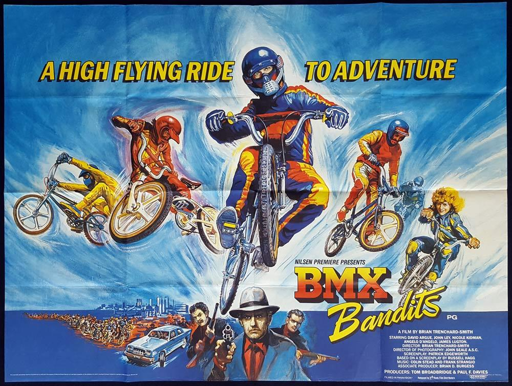 BMX BANDITS British Quad Movie poster JOSH KIRBY art Nicole Kidman
