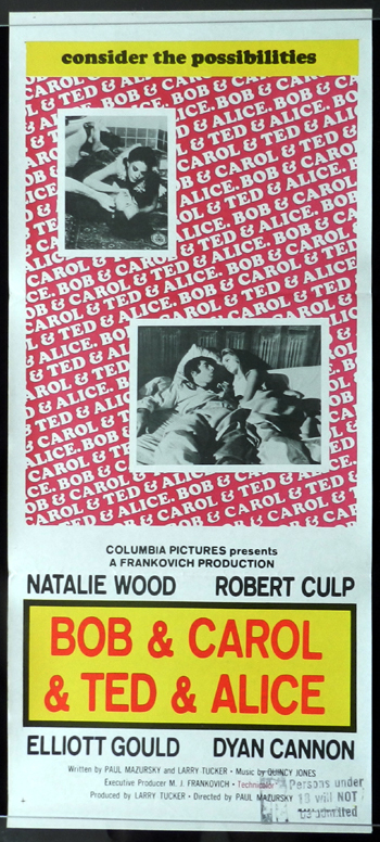 BOB AND CAROL AND TED AND ALICE daybill Movie poster Natalie Wood