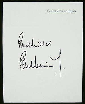 BOB WILLIS - England cricket Captain Autograph