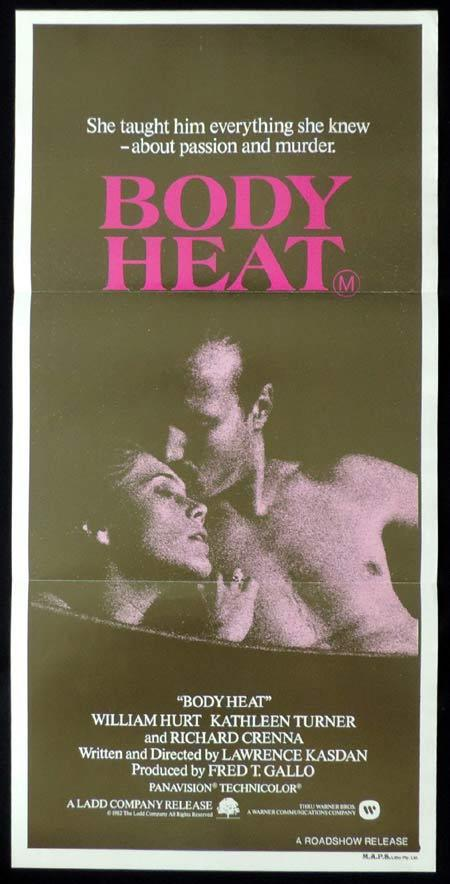 BODY HEAT Original Daybill Movie Poster Kathleen Turner William Hurt