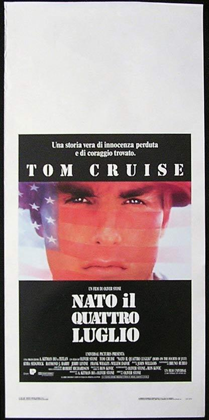 BORN ON THE FOURTH OF JULY Italian Locandina Movie Poster Tom Cruise